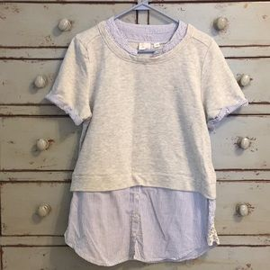 Anthropologie 9h15 stcl Brand Short Sleeve Top